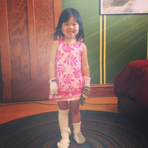 Amelia and socks